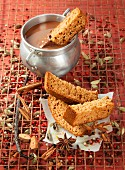 Spiced bread with a chocolate dip (Spain)