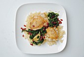 Chicken pilau with spinach and barberries