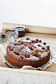 Olive oil cake with cherries