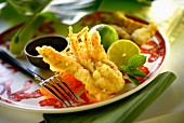Soft-shell prawns in tempura batter (Asia)