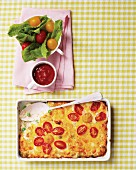 Cheese and pasta bake with vegetables