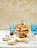Croque Monsieur with ham and mozzarella
