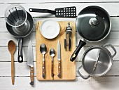 Kitchen utensils for making fried vegetables and couscous