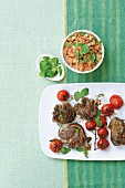 Lamb chops with tomato couscous (Morocco)