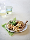 Roasted garlic with grilled bread