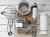 Kitchen utensils for making ice cream