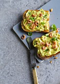 Toast with crab curry butter