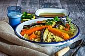 Vegetable couscous (Moroccan)
