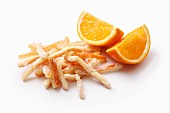Sugared orange zest
