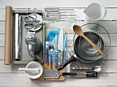 Kitchen utensils for making shortcrust pastry