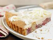 Gooseberry and lemon tart with white chocolate