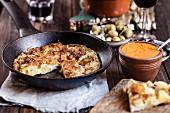 Tapas: tortilla de patata (Spanish potato omelette)