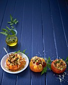 Stuffed tomatoes with a vegetarian filling