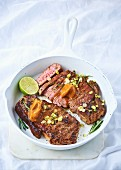 Sirloin steak with miso butter