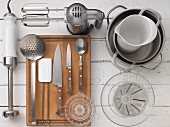Kitchen utensils for preparing fruit dessert