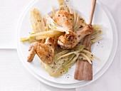 Spiced chicken with fennel