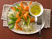 Vegetable carpaccio with vinaigrette