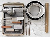 Kitchen utensils for makIng sponge cake