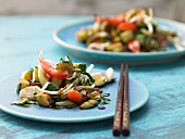 Stir-fried wok vegetables with bean sprouts (Asia)