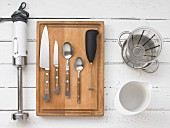 Kitchen utensils for preparing mixed drinks