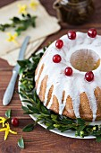 Polish Easter cake with white icing