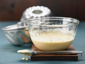 Batter with oil and apple purée