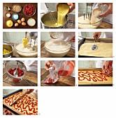 How to prepare raspberry traybake