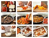 How to prepare lasagne with cream cheese