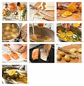 How to prepare orange & tarragon with salmon and baby potatoes