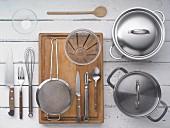 Kitchen utensils for preparing shrimp soup