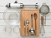 Kitchen utensils for preparing cold strawberry soup