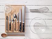 Kitchen utensils for preparing vegetarian bread rolls
