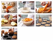 How to prepare carrot & almond muffins