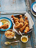 American buttermilk fried chicken