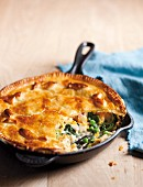 A pan-baked fish & vegetable pie