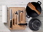 Kitchen utensils for preparing chicken