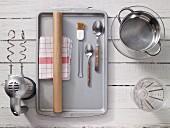 Kitchen utensils for baking bread