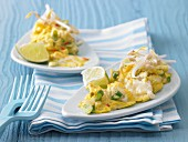 Asian scrambled egg with soya beansprouts