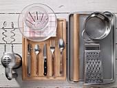 Kitchen utensils for preparing potato bread rolls