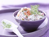 Smoked salmon & cheese cream with dill and horseradish