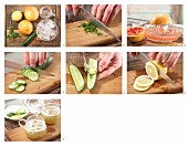 How to prepare citrus and cucumber punch