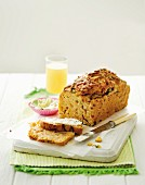 Using up leftovers: potato & courgette loaf