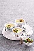 Vichyssoise with mackerel gremolata