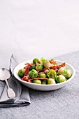 Brussels sprouts with fried bacon