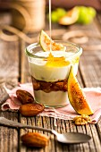 A dessert with old biblical ingredients: yoghurt with dates, figs, nuts and honey