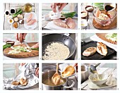 How to prepare miso soup with pan-fried chicken fillet