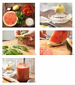 How to prepare chilled melon and tomato soup