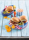 Sloppy Joe (an American burger with minced meat)