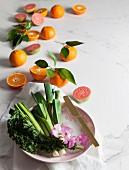 Guavas, Clementines, Leeks, Kale