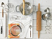 Kitchen utensils for making a quark pastry